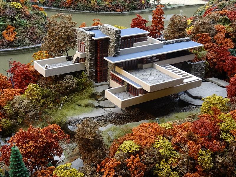 Modelo em miniatura casa da cascata